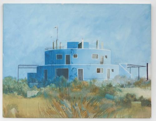 "Edi Hila, ""The Blue House"", 2000, Collection Mudam Luxembourg"