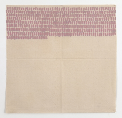 """Giorgio Griffa, """"Segni orizzontali"""", 1968, Mudam Collection"""