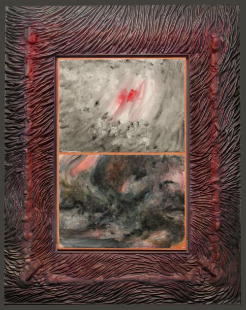 "Robert Morris, ""Untitled (Firestorm series)"", 1984. Collection Mudam Luxembourg – Musée d'Art Moderne Grand-Duc Jean. Dépôt 2020 – Collection American Friends of Mudam donation de Raymond J. Learsy"