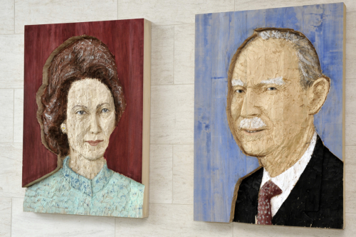 """Stephan Balkenhol, """"Portaits de SS.AA.RR. Le Grand-Duc Jean et La Grande-Duchesse Joséphine-Charlotte"""", 2006/2010, Collection Mudam"""