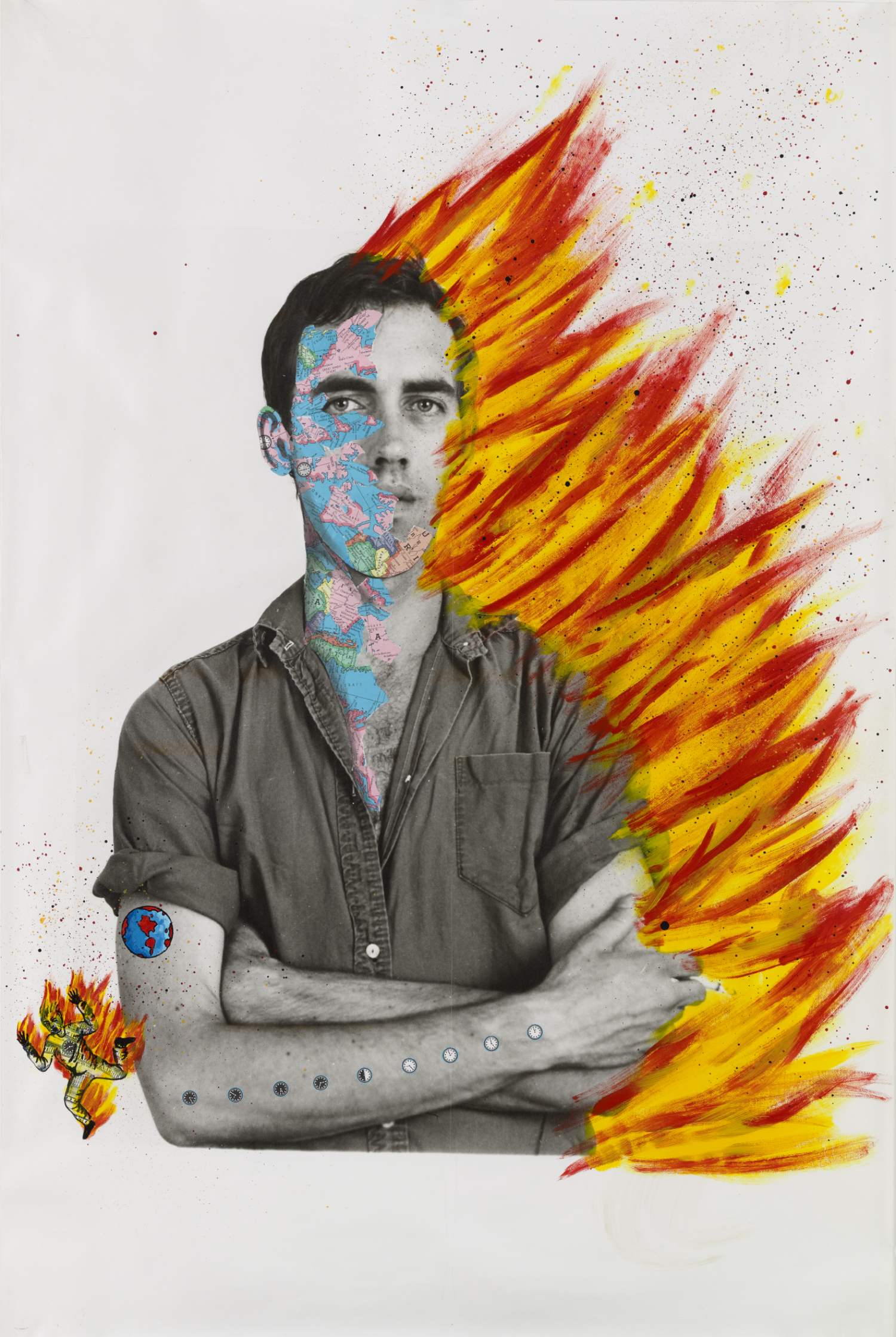 David Wojnarowicz (1954-1992) with Tom Warren, Self-Portrait of David Wojnarowicz, 1983–84