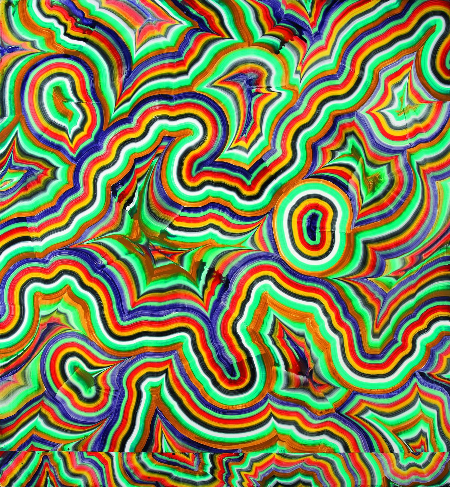 Bernard Frize Extension 2, 1990 Acrylique et résine sur toile 240 x 220 cm