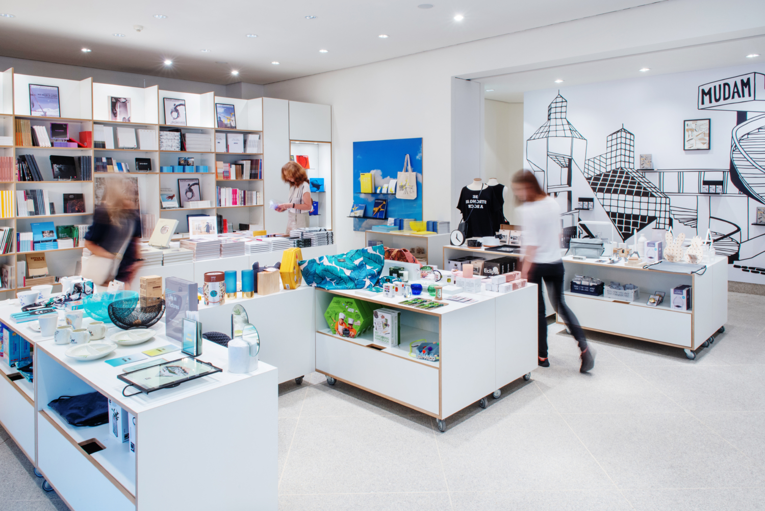 Mudam Boutique is a museum store unlike any other. While stocking selection of contemporary art literature, Mudam publications and postcards, the shop's key feature is its outstanding selection of handpicked objects, ranging from original items and gifts to design pieces that cater to each and every taste.