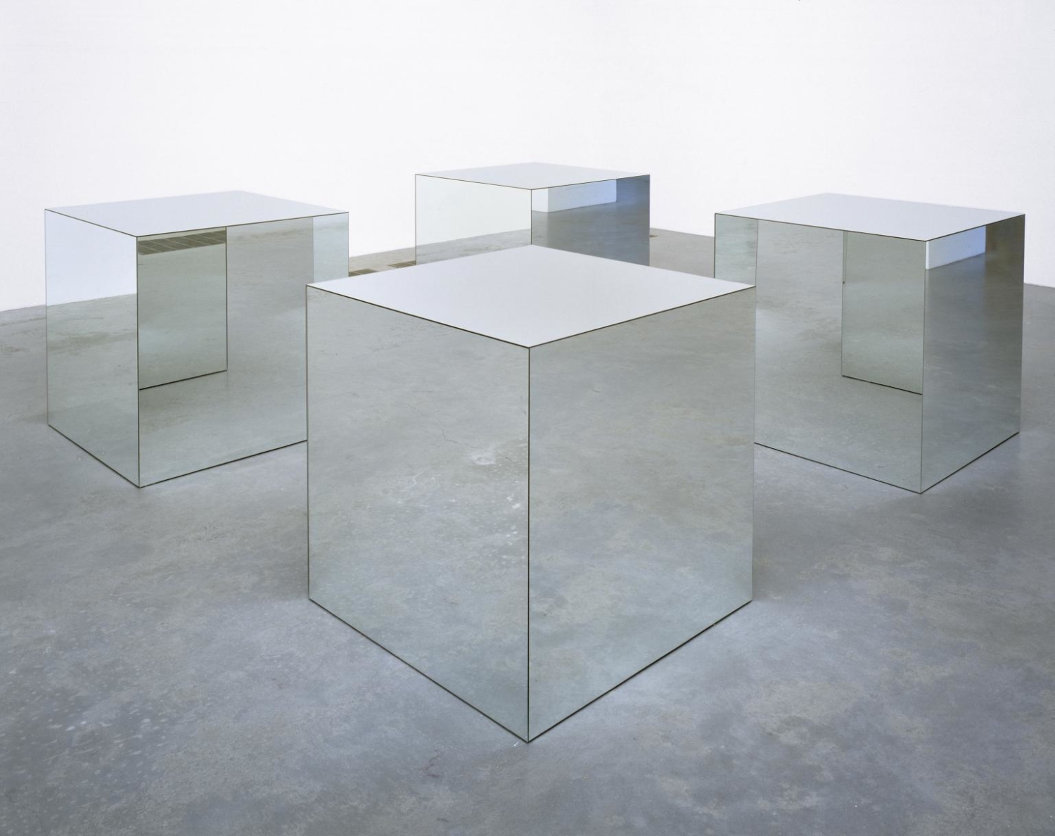 "Robert Morris, ""Untitled, (Mirrored Cubes)"", 1965/1971. Tate Collection: Acquisition 1972"