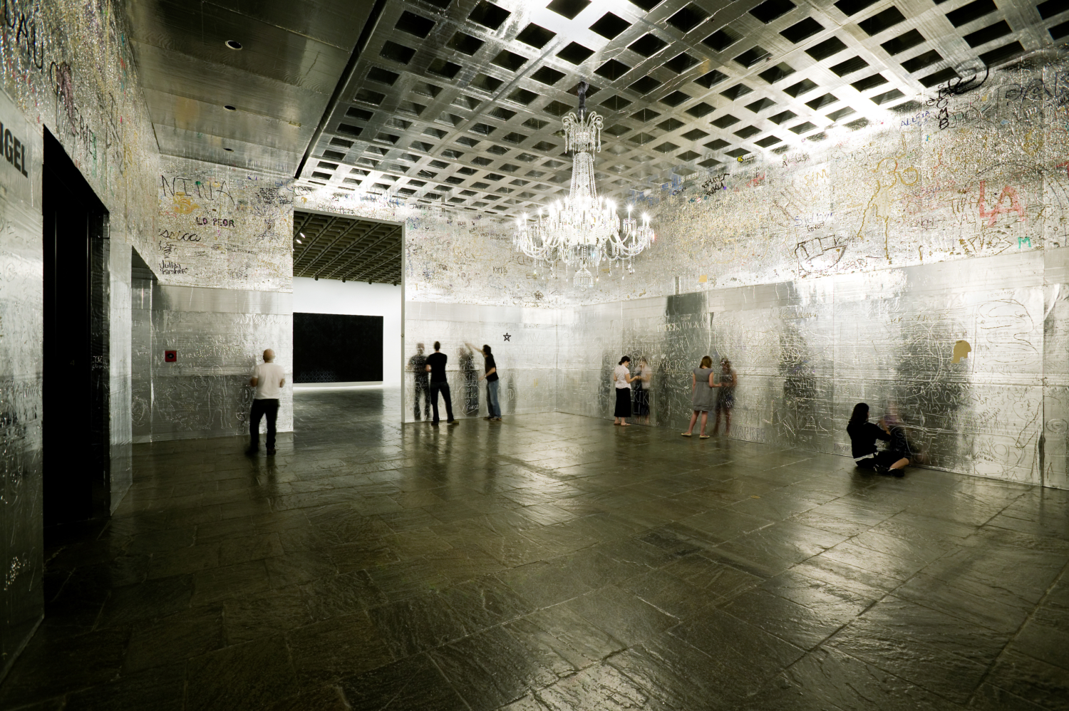 "Rudolf Stingel, ""Celotex Installation"", Installation view, Whitney Museum, New York, 2007"