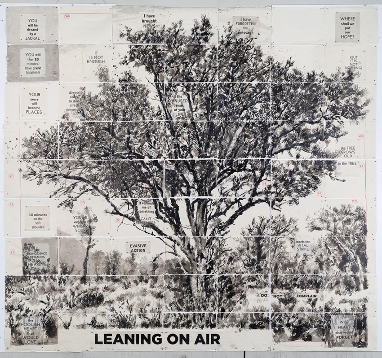 "William Kentridge, ""Leaning on Air"", 2020"