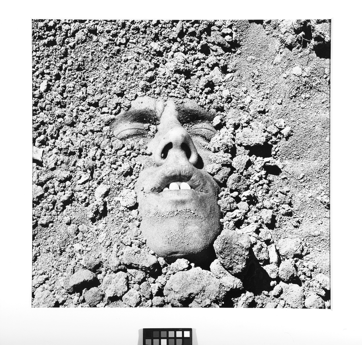 "David Wojnarowicz, ""Untitled (Face in Dirt)"", 1991 (printed 1993). Collection of Ted and Maryanne Ellison Simmons"