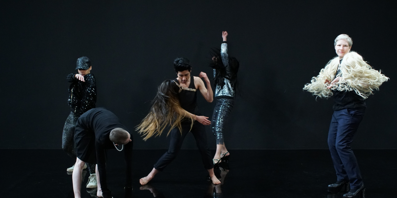 "Pauline Boudry / Renate Lorenz, still from ""Moving Backwards"", 2019, Choreography/performance: Julie Cunningham, Werner Hirsch, Latifa Labissi, Marbles Jumbo Radio, Nach"