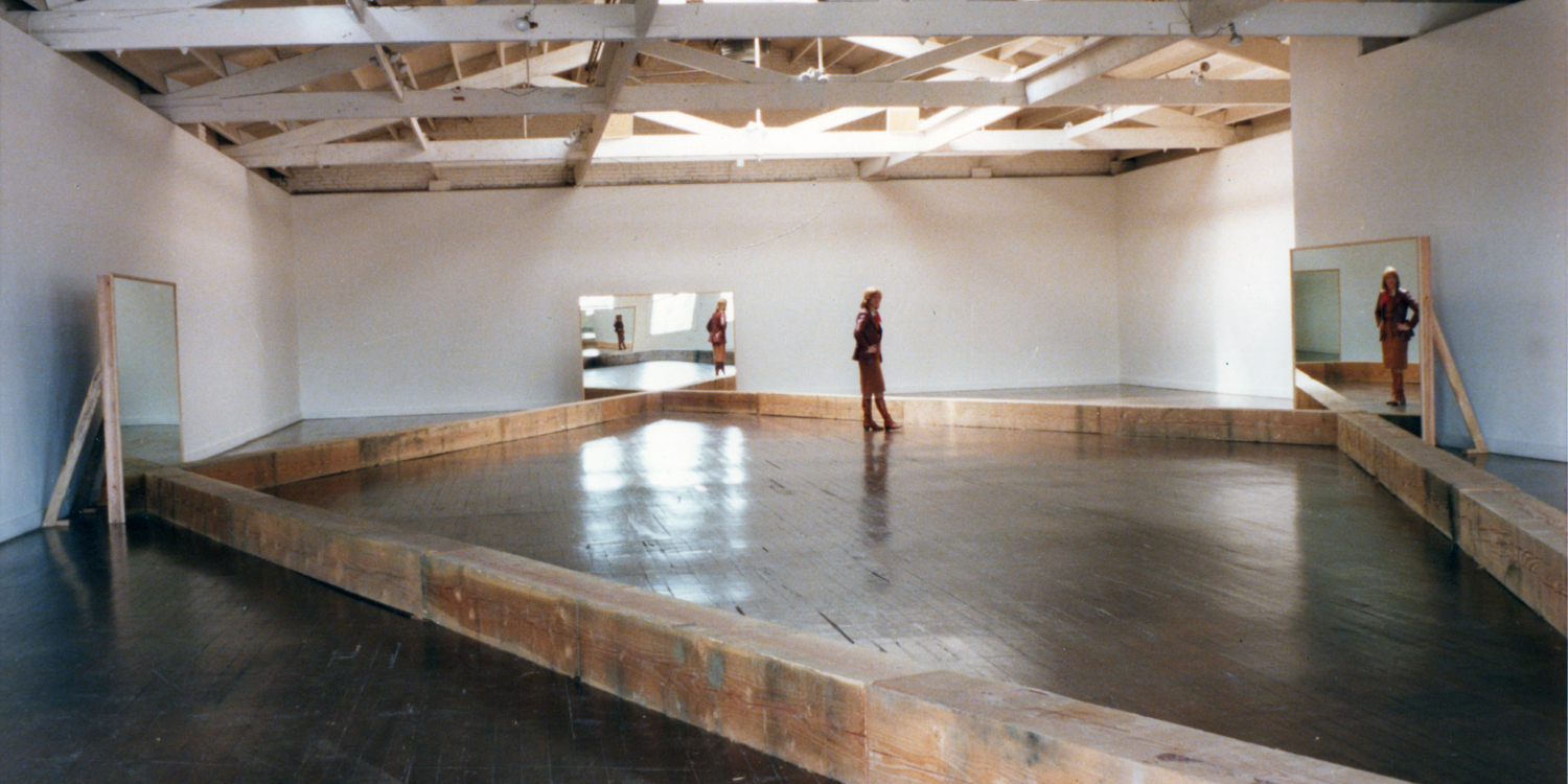 "Robert Morris, ""Untitled (Portland Mirrors)"", 1977. Installation at the Portland Center for the Visual Arts, Oregon, March 1977 