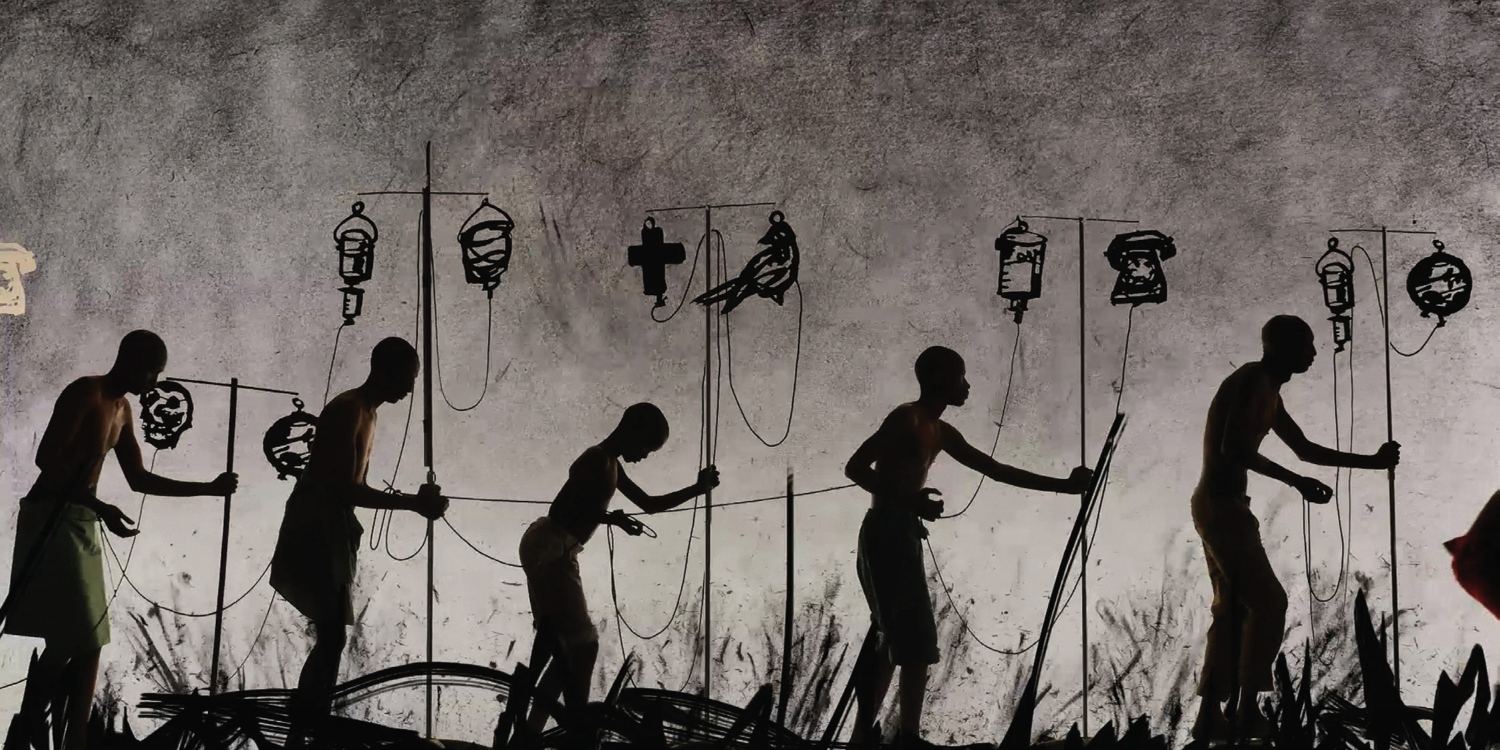 William Kentridge, video still from film made for More Sweetly Play the Dance, 2015