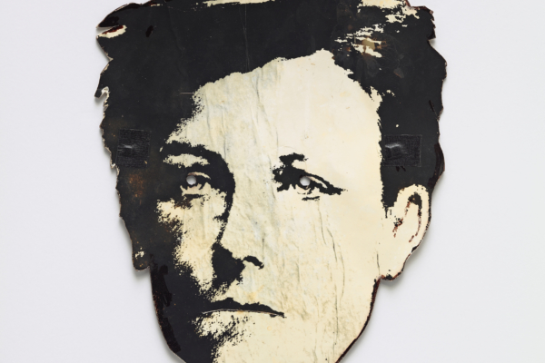 """David Wojnarowicz, """"Rimbaud mask"""", c. 1978. Courtesy the Fales Library and Special Collections, New York University"""
