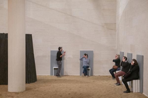 """Vue de l'exposition """"Bert Theis. Building Philosophy – Cultivating Utopia"""", 30.03.2019 – 25.08.2019, Mudam Luxembourg"""